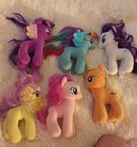 6 пони лошадок
