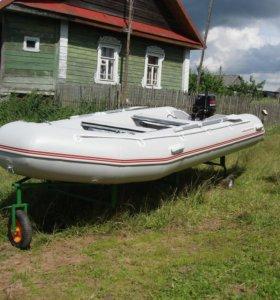 Лодка пвх 420 +мотор15л.с.