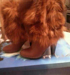 Обувь зимние кожаный