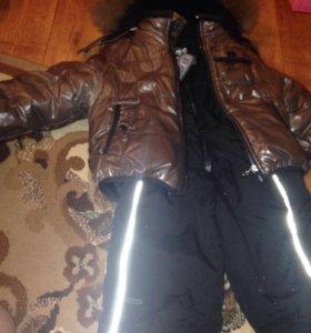 Зимняя куртка с комбинезоном до -40
