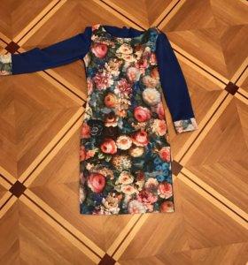 Новое цветастое платье