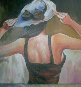 "Картина ""девушка в шляпке"""