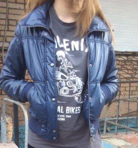 Куртка темно-синяя демисезонная S