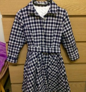 Платье дизайнерское с поясом р-р S/42-44