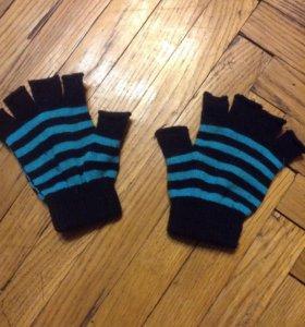 перчатки без пальцев вязанные