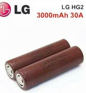 Lg hg 2 3000 mAh аккумулятор 18650 шоколадка