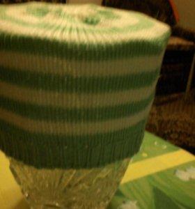 Хлопковая шапка для новорожденного