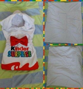Детский Конверт-одеяло. Весна-осень. Тонкий синтеп