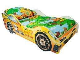Кровать -машина для мальчика(ярко-зелёная)