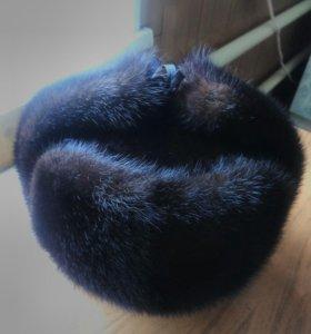 Шапка- ушанка норковая