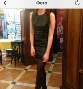 Платье(эко кожа) у