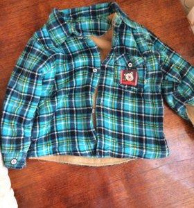 Рубашка на Мальчика утепленная