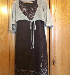 Платье и накидка лен