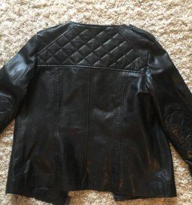 Куртка женская натуральная кожа mango