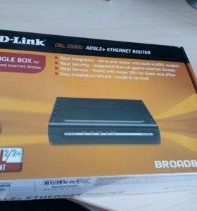 Новый интернет роутер D-Link DSL- 2500 U