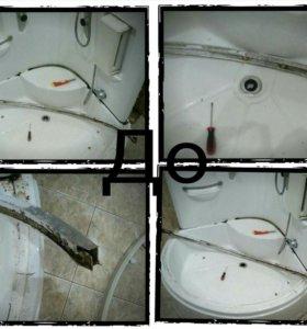 Ремонт и установка душевых кабин, ванн, санфаянса