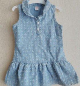 Платье джинсовое 74-80