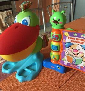 Сортер Tiny Love + муз. игрушка Fisher Price