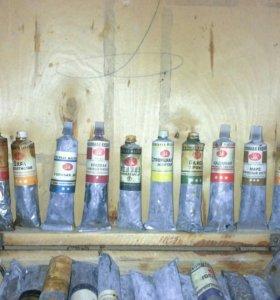 краски масляные художественные советские