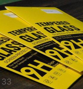 Защитные стекла для iPhone 5/5S/SE 6/6S 7/7 Plus