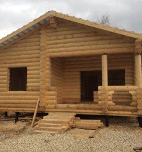Строительство деревянных дом, бань и беседок.