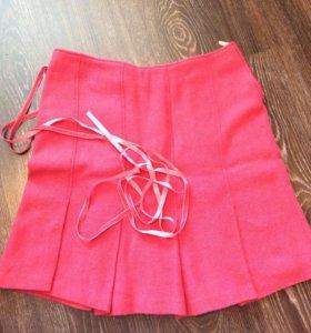 Sisley шерстяная юбка