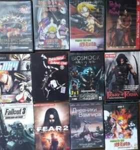 Компьютерные игры аниме мультфильмы диски