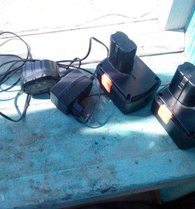 Батареи и зарядка на шурик вихрь