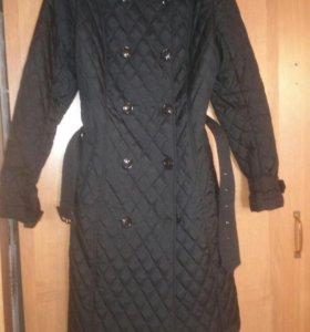 Стеганое облегченное пальто