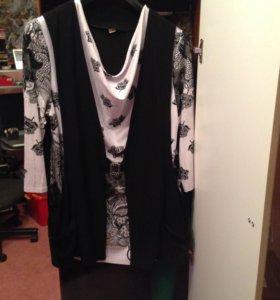 Блуза-кардиган 2в1