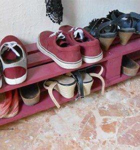 Подставка для обуви из паллет