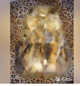 Меховая жилетка, лиса