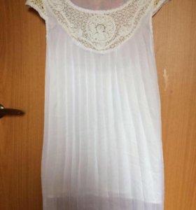 Новое белое платье