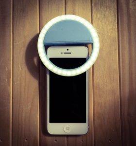 Светодиодное кольцо для селфи (selfie ring light)