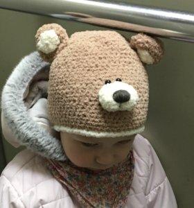Детская шапочка, плюшевая