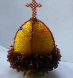 Яйцо пасхальное из бисера