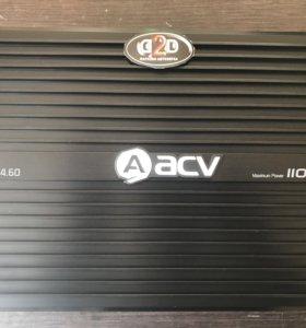Абсолютно новый 4-ех канальный усилок acv lx 4.60