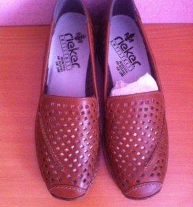Туфли кожаные новые Rieker