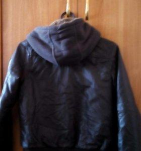 Куртка кожаная утепленная