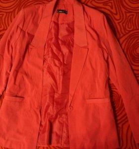 👇Мягкий удлиненный розовый пиджак