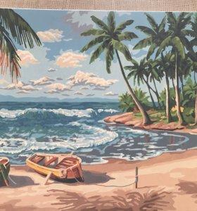 Картины акрилом (пейзажи, натюрморты) размер 50*40
