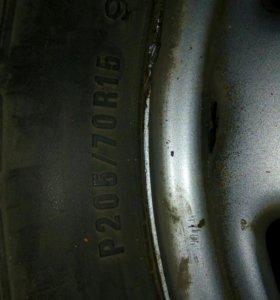 Колеса от Honda CR-V1 2002года ЛЕТНИЕ