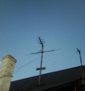 Антенна телевизионная с установкой