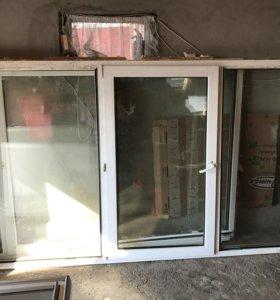 б/у пластиковые окна 2 по 2.90 вс 1.50