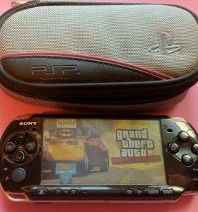 PSP 3008 +4гб+20 игр+чехол