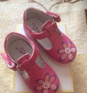 Детские туфли на девочку! Котофей, 21 размер!