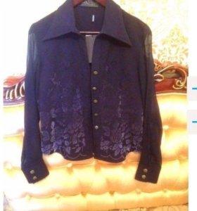 Max Mara новая блузка темно-синяя