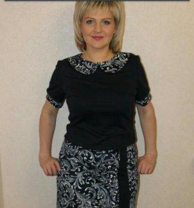 Трикотажное платье, размер 50. г.Иваново
