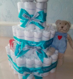 Торт из памперсов))