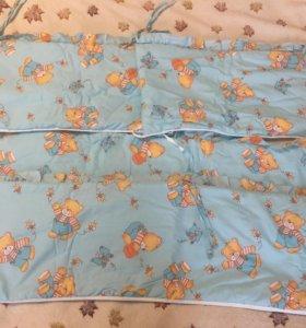 Бортики в детскую кроватку, балдахин